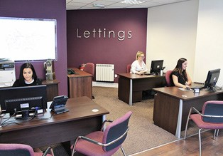Lettings office staff hard at work